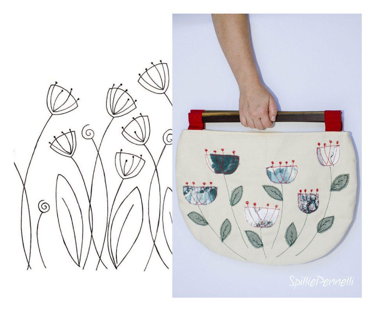Una borsa con manici speciali, in legno…di noce